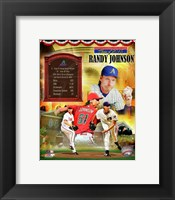 Framed Randy Johnson MLB Hall of Fame Legends Composite
