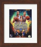 Framed Stephen Curry & Klay Thompson Splash Brothers Portrait Plus