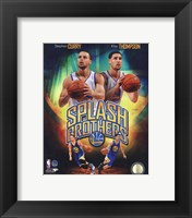 Framed Stephen Curry & Klay Thompson Splash Brothers Portrait Plus