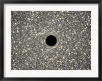 Framed Artist's Concept of Giant Black Hole in Center of Ultracompact Galaxy