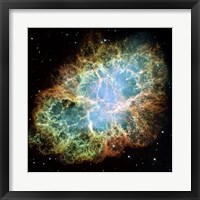 Framed Giant Hubble Mosaic of the Crab Nebula