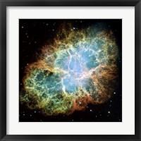 Framed Giant Hubble Mosaic of the Crab Nebula