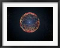 Framed Artist's Impression of Supernova 1993J