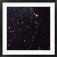 Framed Hubble Tracks Asteroid's Sky Trek