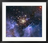 Framed Starburst Cluster Shows Celestial Fireworks