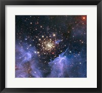 Framed Starburst Cluster Shows Celestial Fireworks