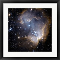 Framed Hubble Observes Infant Stars in Nearby Galaxy