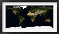 Framed Global Image of the World