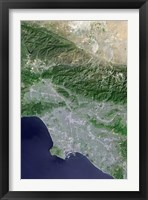 Framed Satellite view of Los Angeles, California and Surrounding Area