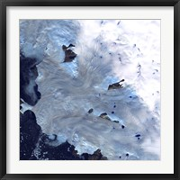 Framed Small Field of Glaciers Surrounds Baffin Bay along Greenland's Western Coast
