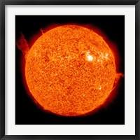 Framed Solar activity on the Sun