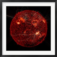 Framed Magnetic Field Visible on the Sun
