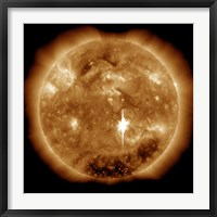 Framed Massive X-Class Solar Flare Erupts on the Sun