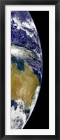 Framed partial view of Earth showing Australia and the Great Barrier Reef