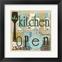 Framed Kitchen is Open
