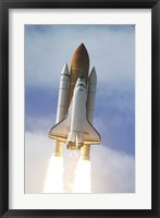 Framed Space Shuttle Atlantis Lifts Off from Kennedy Space Center