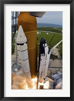 Framed Kennedy Space Center Space Shuttle