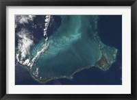 Framed Bahamas' Lengthy Narrow Eleuthra Island