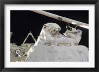 Framed Astronaut Participates in a Session of Extravehicular Activity 4