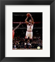 Framed Derrick Rose 2014-15 Action