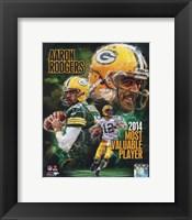 Framed Aaron Rodgers 2014 NFL MVP Composite