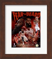 Framed James Harden Fear the Beard Portrait Plus