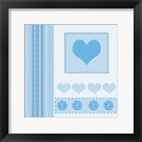 Button Heart I Framed Print