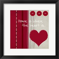 Button Heart II Framed Print