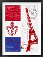 Bonjour de France Framed Print