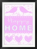 Framed Happy Home Birds