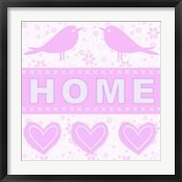 Framed Home Birds Pink