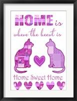 Framed Home Sweet Home Cats I