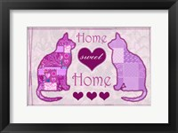 Framed Home Sweet Home Cats II