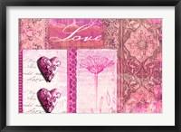 Framed Home Love Pink