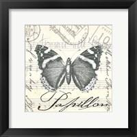 Vintage Butterfly II Framed Print