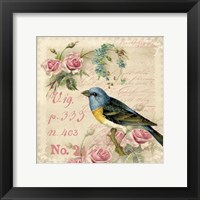 Framed Vintage Bird