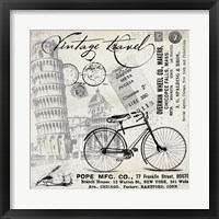 Framed Vintage Travel Italia I