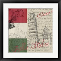 Framed Vintage Travel Italia II