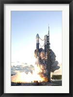 Framed Delta II Rocket Lifts off from its Launch Pad