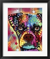 Framed Boxer Cubism