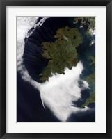 Framed Contrails Converging on Dublin, Ireland