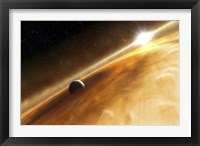 Framed Artist's Concept of the Star Fomalhaut and a Jupiter-Type Planet