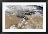 Framed Dust Blows Off the Coast of Libya Heading Over the Mediterranean Sea