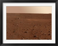 Framed Rocky Surface of Mars