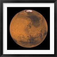 Framed Global Color View of Mars