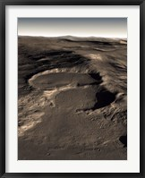 Framed Three Craters in the Eastern Hellas Region of Mars