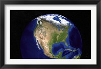 Framed Blue Marble Next Generation Earth Showing North America