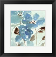 Framed Blue Garden II