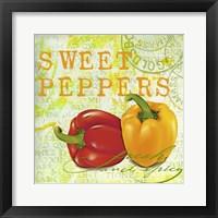 Farmer's Market Sweet Pepper Framed Print