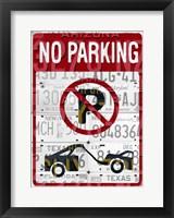 Framed No Parking